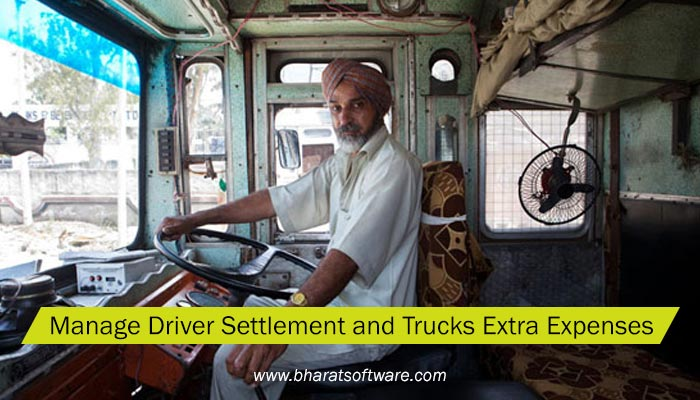 manage driver settlement and trucks extra expenses