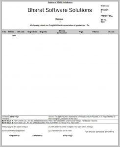 transport invoice format2