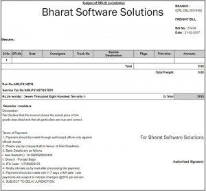 transport invoice format3