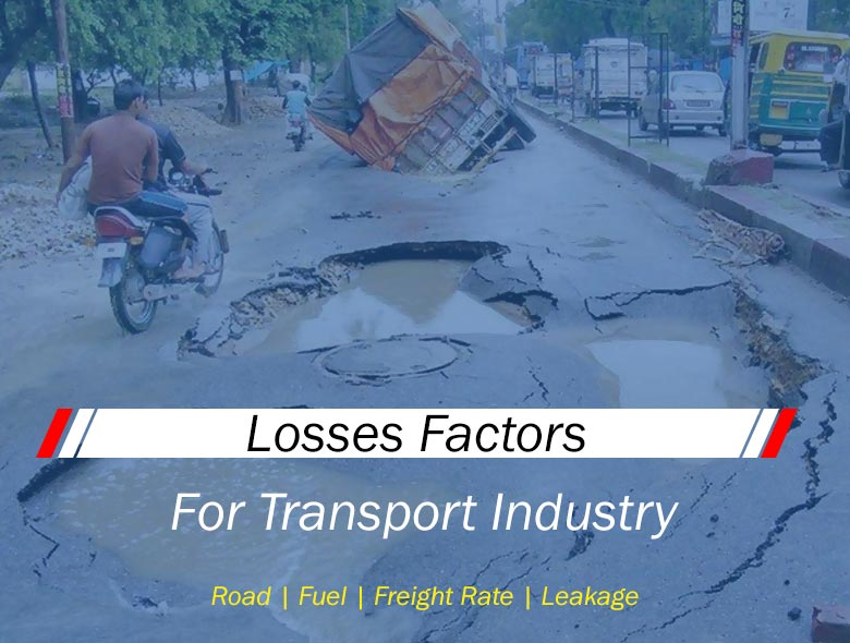 losses factors for transport industry